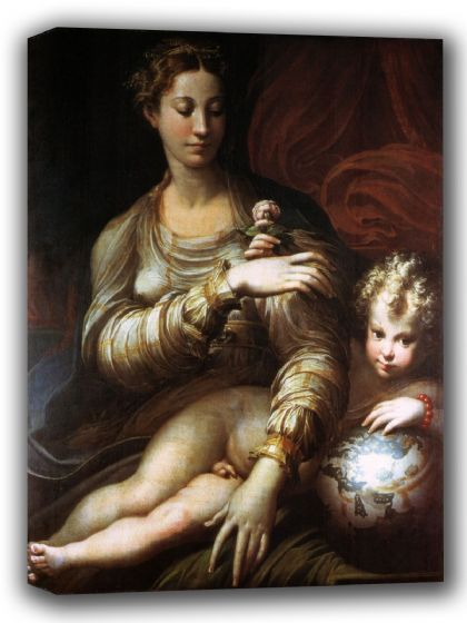 Parmigianino (Francesco Mazzola): Madonna of the Rose. Fine Art Canvas. Sizes: A4/A3/A2/A1 (001986)